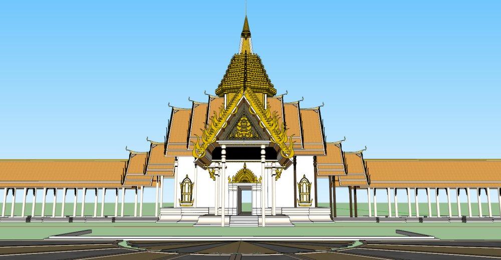 东南亚建筑和长廊,一层