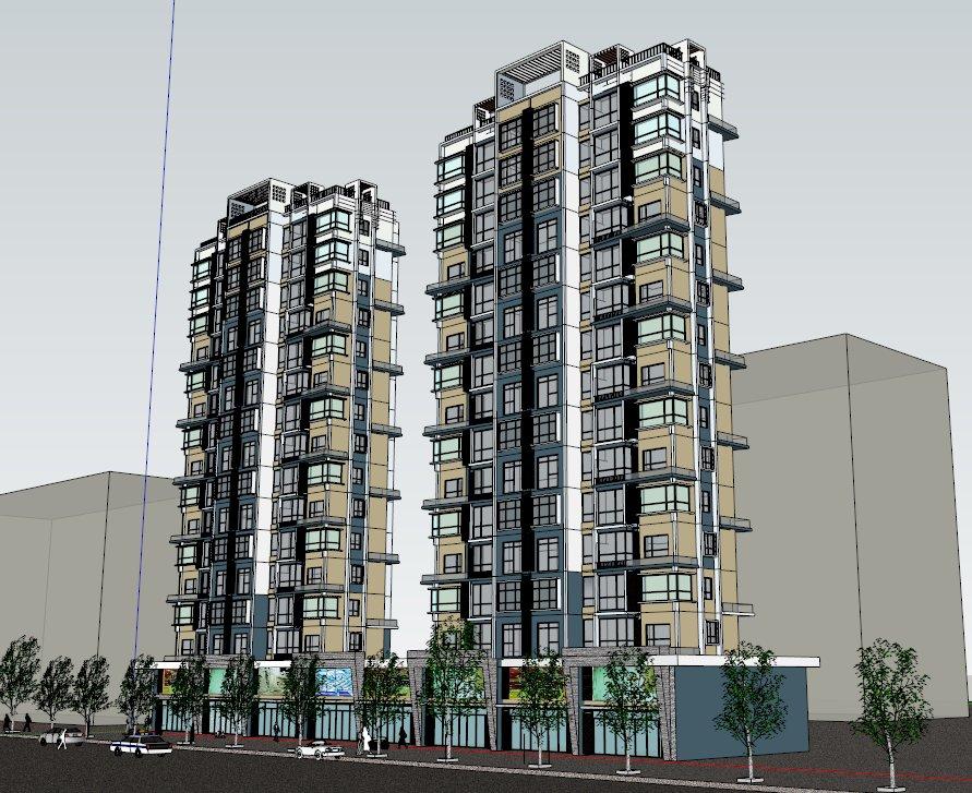 高层住宅,现代风格,16层.