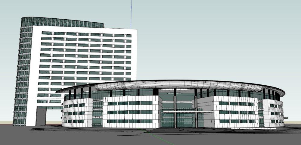 办公楼现代主义19层