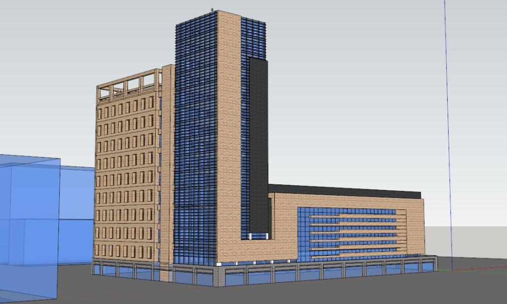 高层办公楼,现代主义,14层