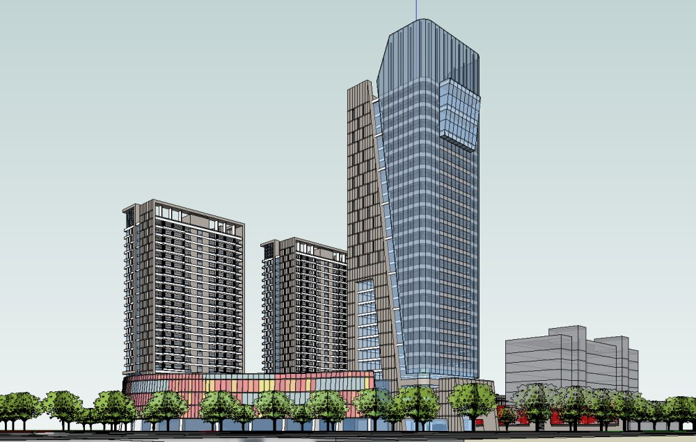 欧式古典风格会所,3层-公共建筑模型库sketchup-户型