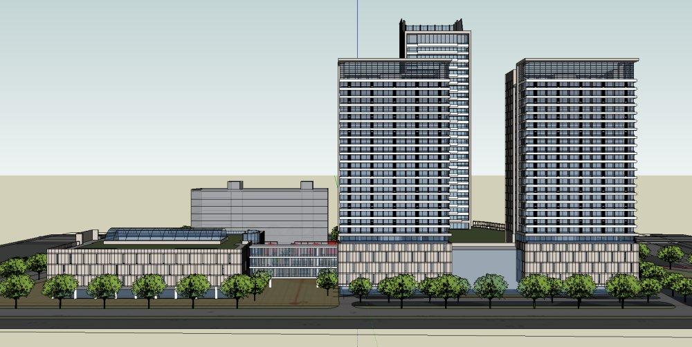 高层欧式公共建筑
