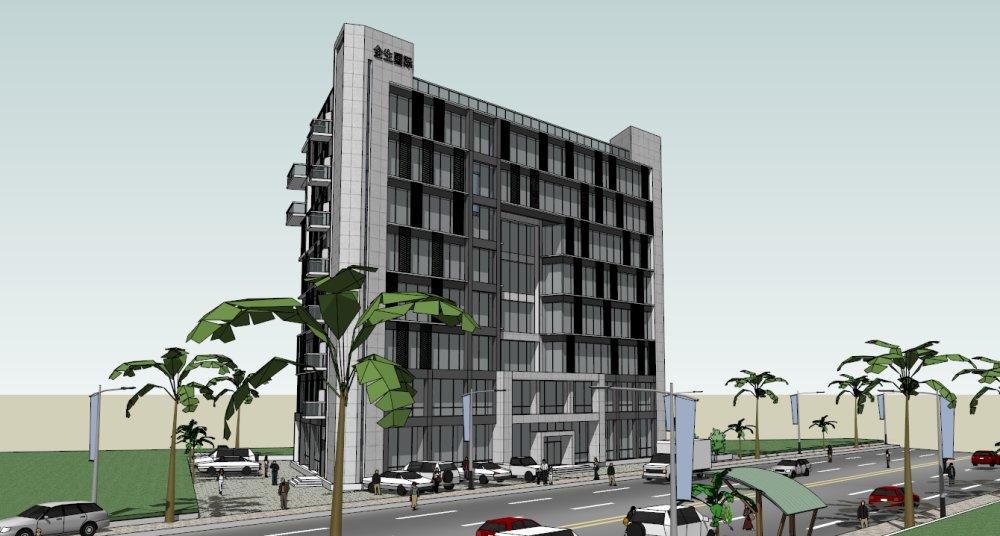 多层办公楼,8层,现代主义风格