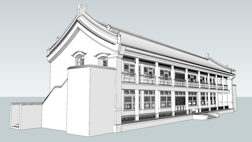 硬山顶,中国古典民居,2层