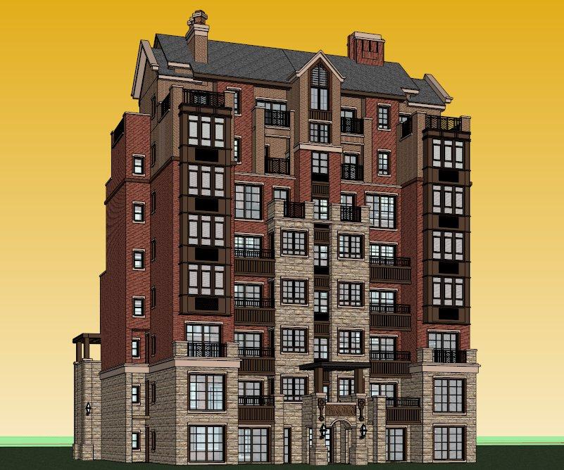 住宅,英式风格建筑,多层图片