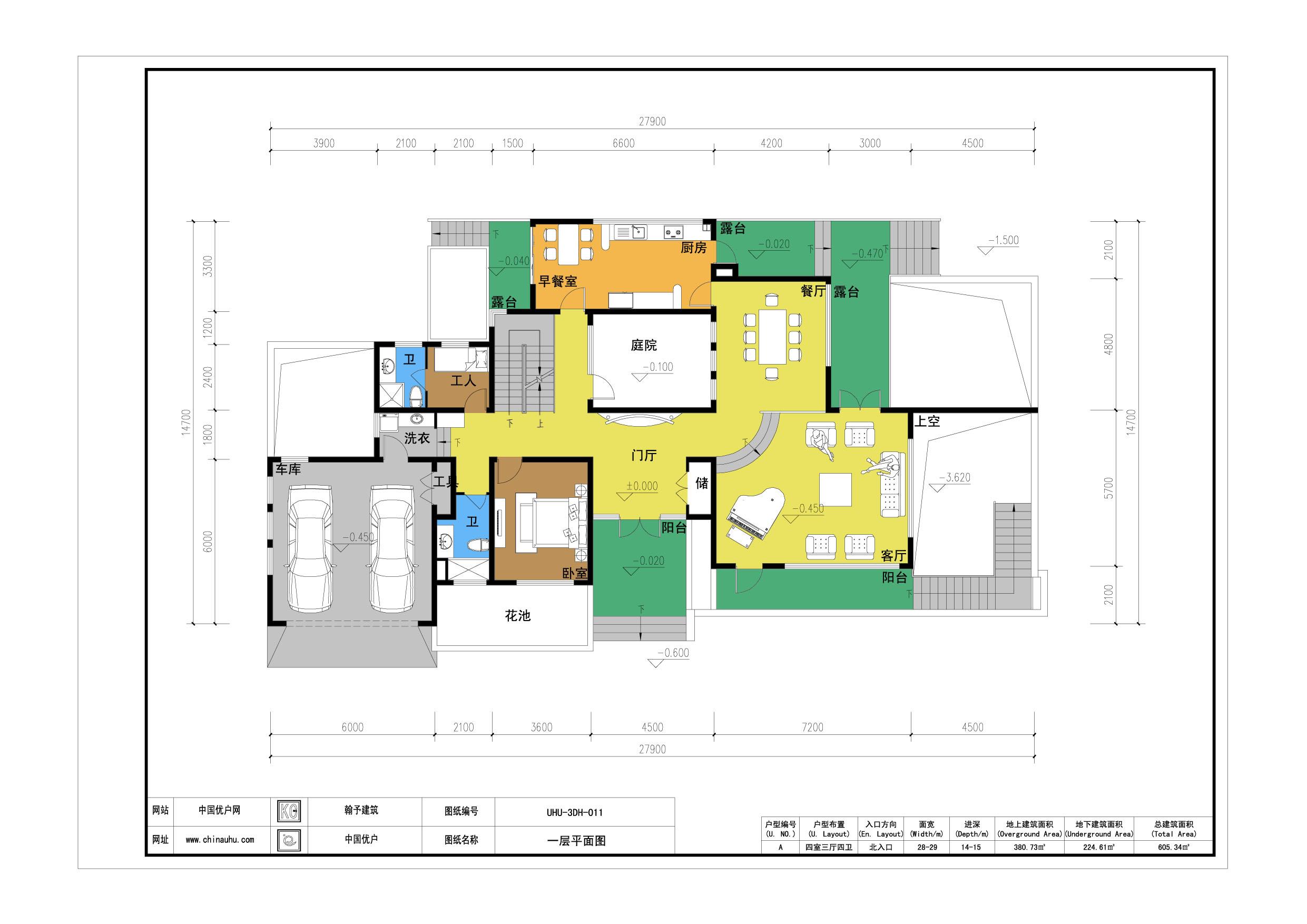 三层独栋别墅单元户型