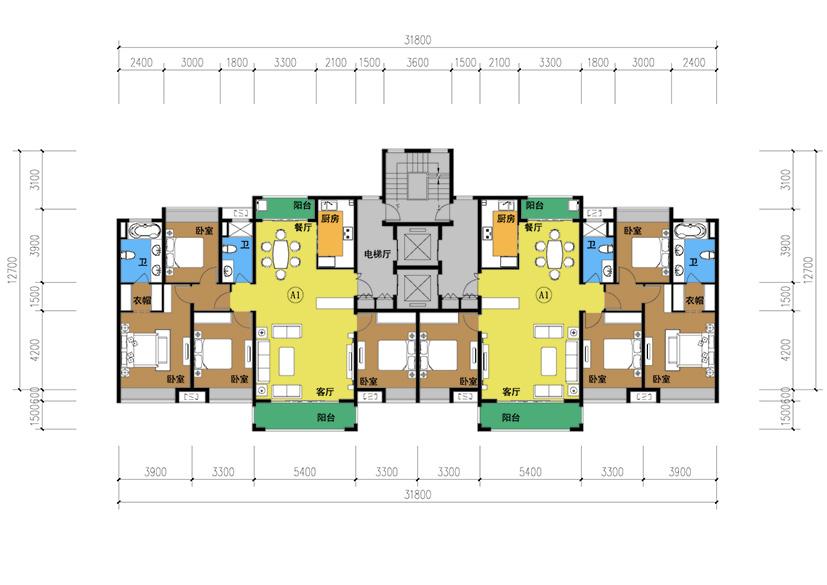 一梯两户农村自建房设计图图片