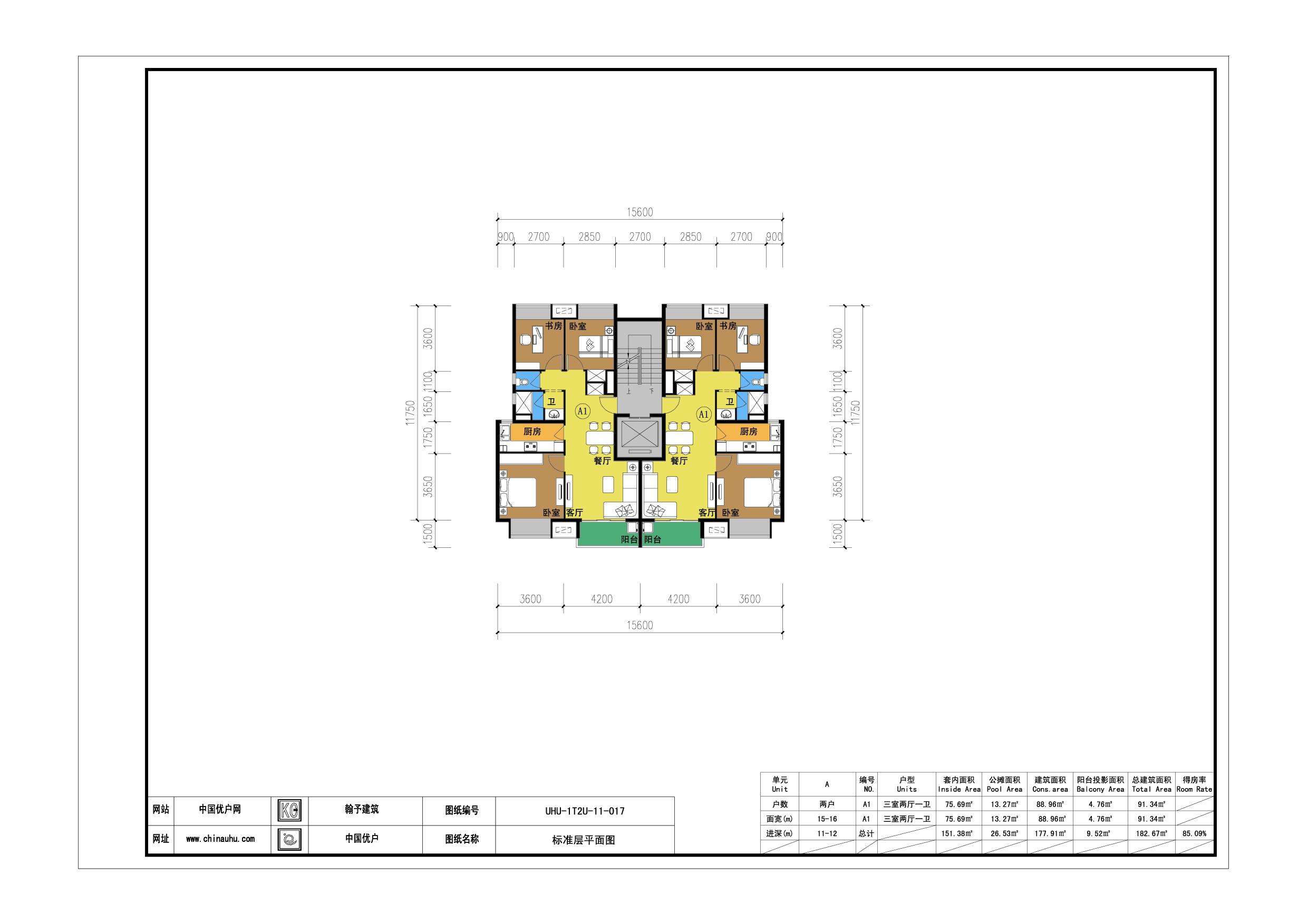 平房三室两厅房屋平面设计图展示