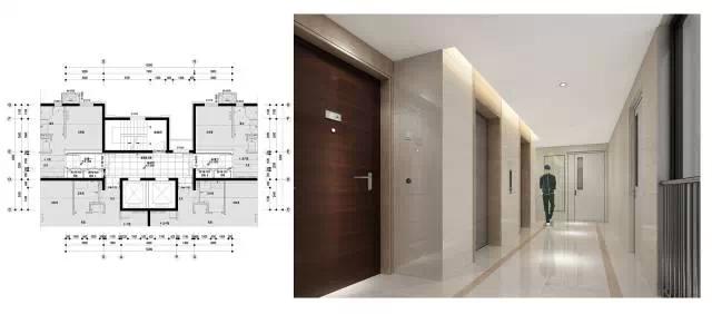 装修 标准层楼梯间 地下电梯厅 地下层大堂,电梯间是业主从车库回家的