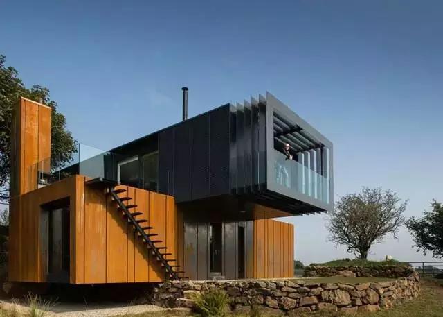 集装箱型别墅设计图图片