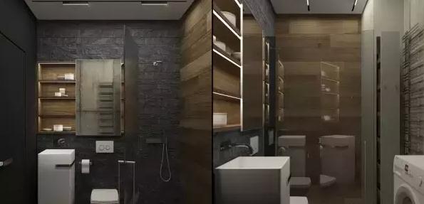 这个户型与户型1类似,进门即是洗手间,中间是转角开放式厨房,不过图片