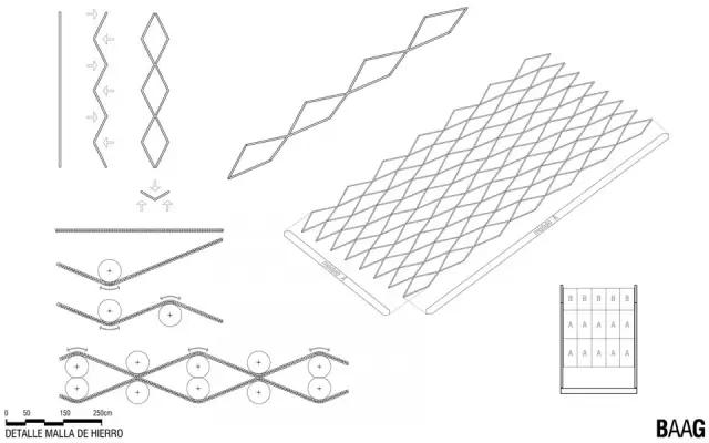过滤网结构手绘图