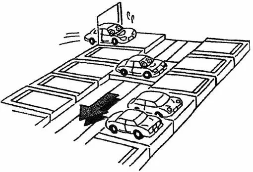 机械式立体停车场种类树状图:  一、升降横移类 1、二层升降横移式:  二层升降横移式适用于室内、户外。 车位可增加到1.8倍以上 考虑同时进出车的可能性,以3-6联最为合理。 二层升降横移式梁下净高要求3650mm以上。 若横移台要求停车高顶车则要求3950mm以上 二层升降横移式运行原理如下图:  2、三层升降横移式:  三层升降横移底坑式适用于室内、户外。 车位可增加到2.