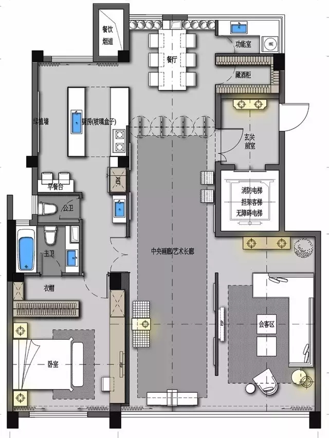 异形大户型的12个室内设计方案-行业新闻-户型图下载