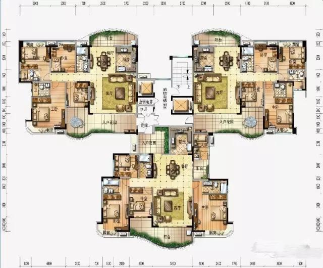 亮点一:家家有院,超大入户花园 众所周知,花园美景实为别墅住户私享的空间,也是全家人欢笑谈心的温馨天地。碧桂园J318电梯洋房户型,将突破以往传统电梯洋房的户型格局,通过大型入户花园、弧形阳台、生活阳台的搭配设计,将醇美小花园的概念纳入到电梯洋房中。  户型一、碧桂园J318户型,2梯3户 J318 (01-02户型):4房2厅3卫&建筑面积:168-174,套内建筑面积:144-149 J318(03户型):5房2厅3卫&建筑面积:198&套内建筑面积:168 如上