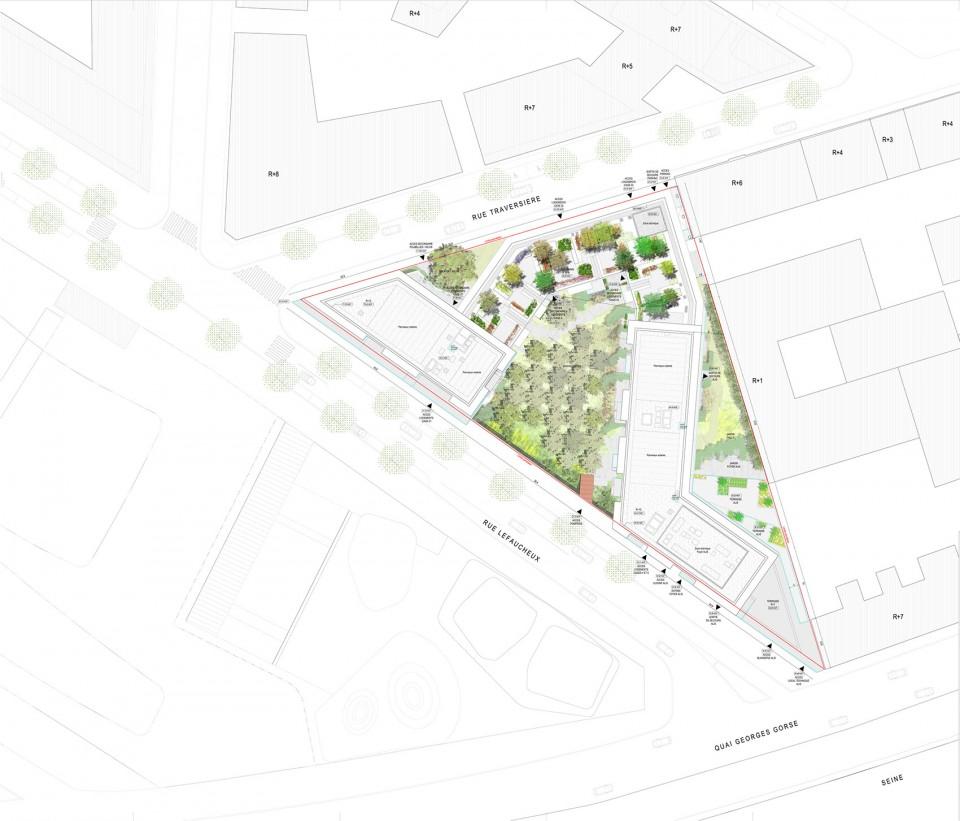 巴黎城市设计平面图