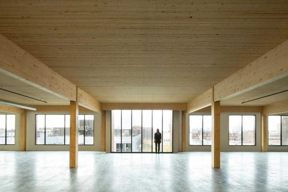 首个现代木结构高层办公楼