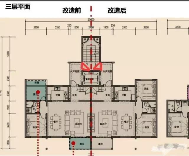 除了跃层楼梯设计不影响室内空间实用,客厅餐厅还采用横厅设计,加上高