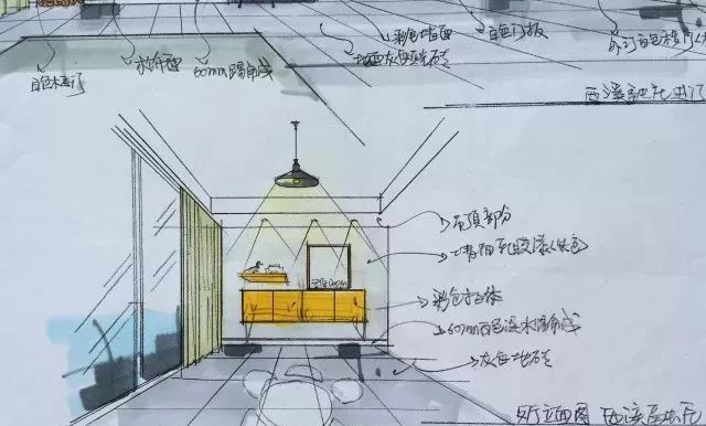 餐厅手绘图.