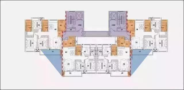 俗話說:買套房子窮三代,選錯戶型悔終身。 商品房是咱們大多數人一輩子采購的最貴的商品,戶型的好壞很大影響了咱們天天的居住質量。 一梯一戶,準豪宅入戶體會,電梯廳用作私家玄關空間 公攤面積:61.64 270觀景天臺 巨細套房入戶流線分隔,互不攪擾 全南臥室,雙主臥套房  以400規范層平面為例,得房率進步1.