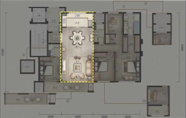 170平方房子结构图
