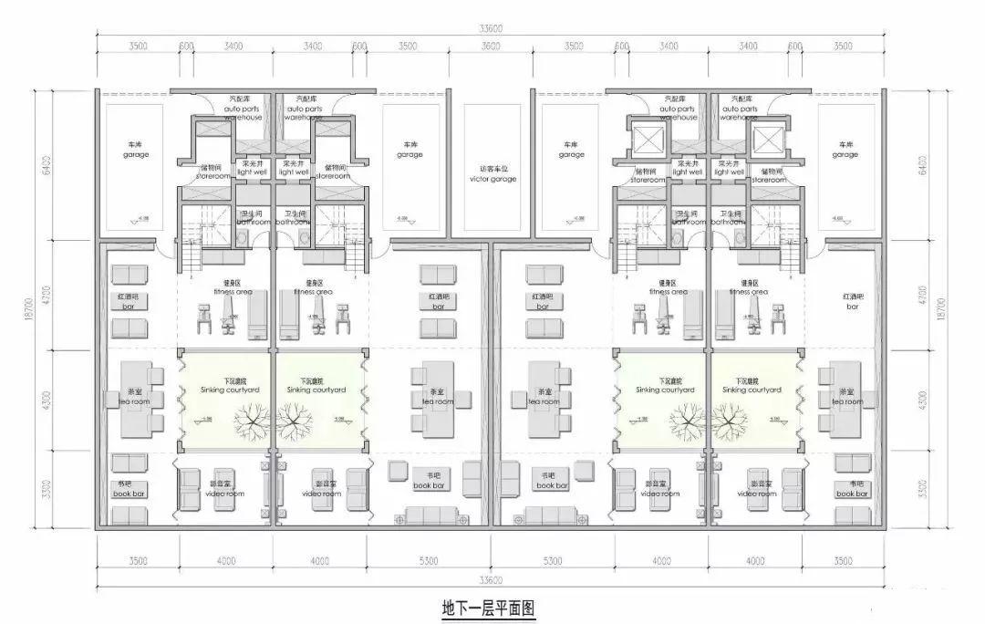 一层面积图 1,地下车库及地下室设计往往是设计所忽略的重灾区.
