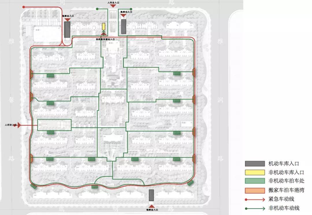 每个楼栋都采取双大堂设计, 业主归家,可以从迎宾楼下到地下,穿过会所