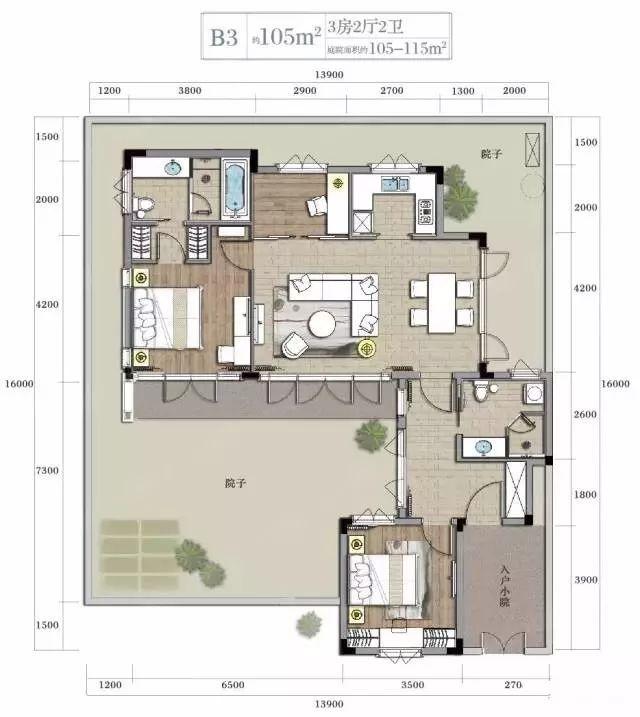 绿城83-180㎡的极小别墅(平面图)